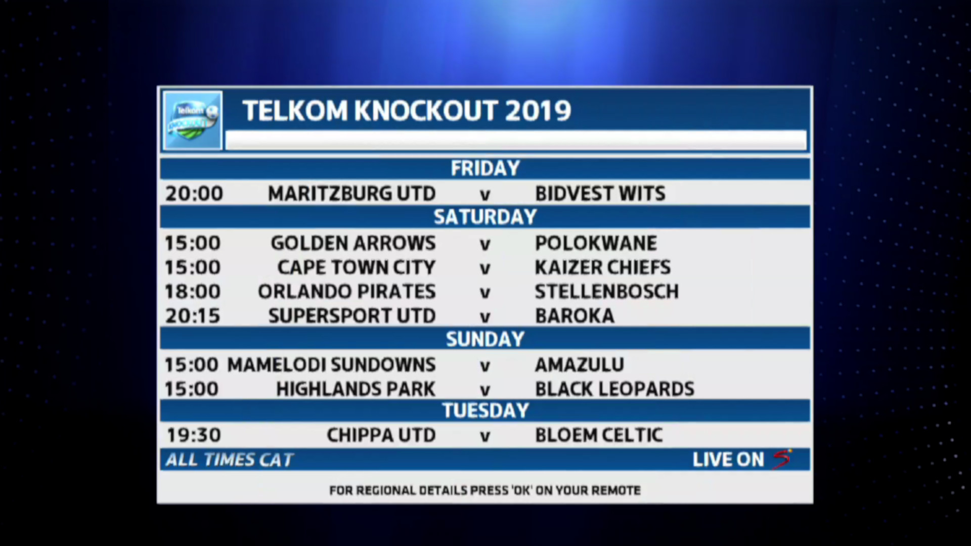 Telkom Knockout | TKP dates confirmed
