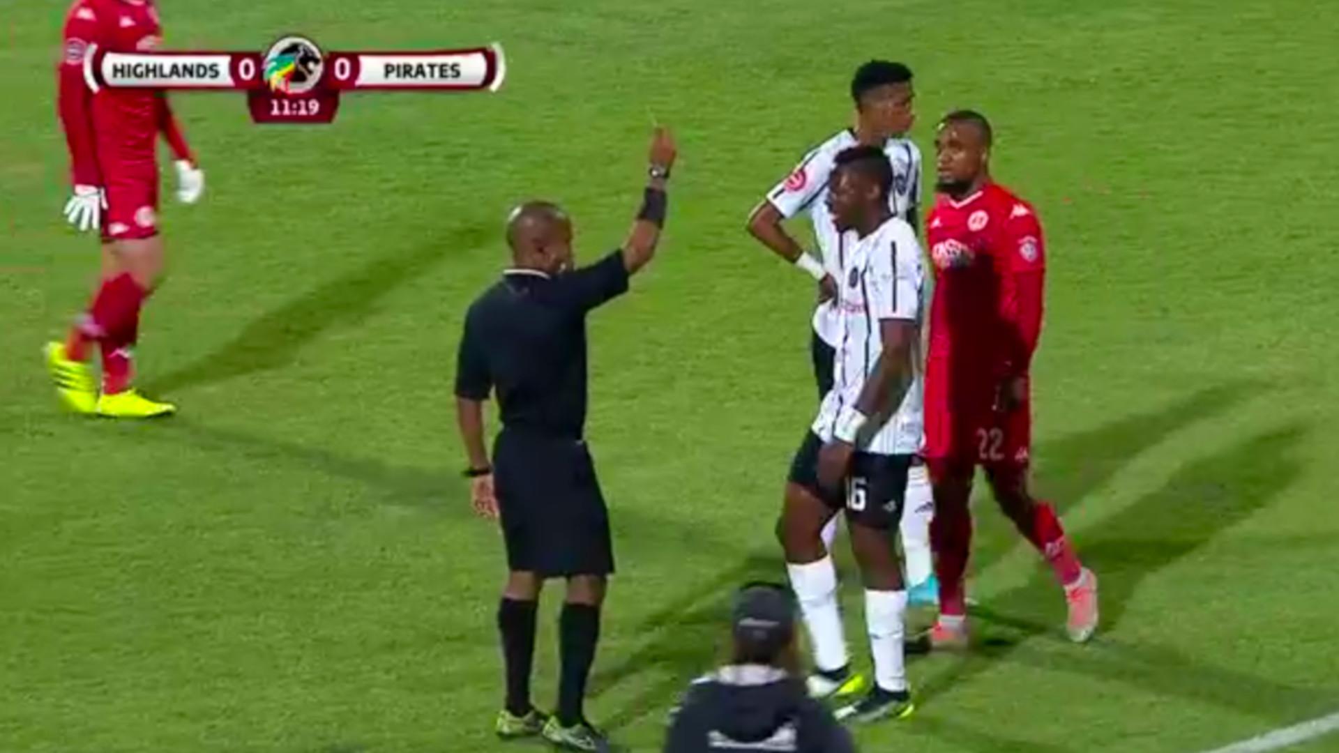 Absa Premiership 2019/20 | Tshegofatso Mabaso Yellow Card