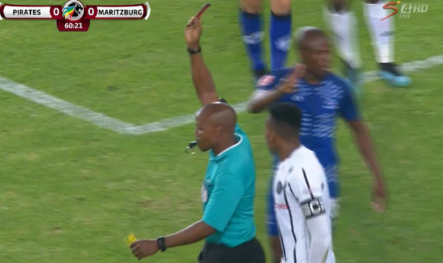 Absa Premiership | Orlando Pirates v Maritzburg United | Jele sent off, ruled out of derby