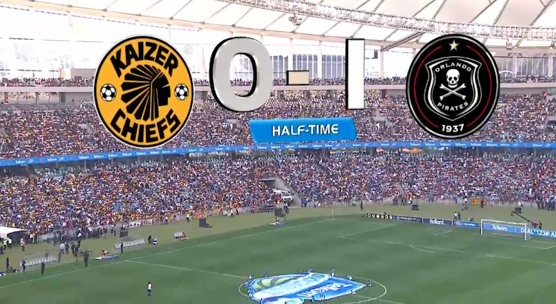 Telkom Knockout | Kaizer Chiefs v Orlando Pirates | halftime chat