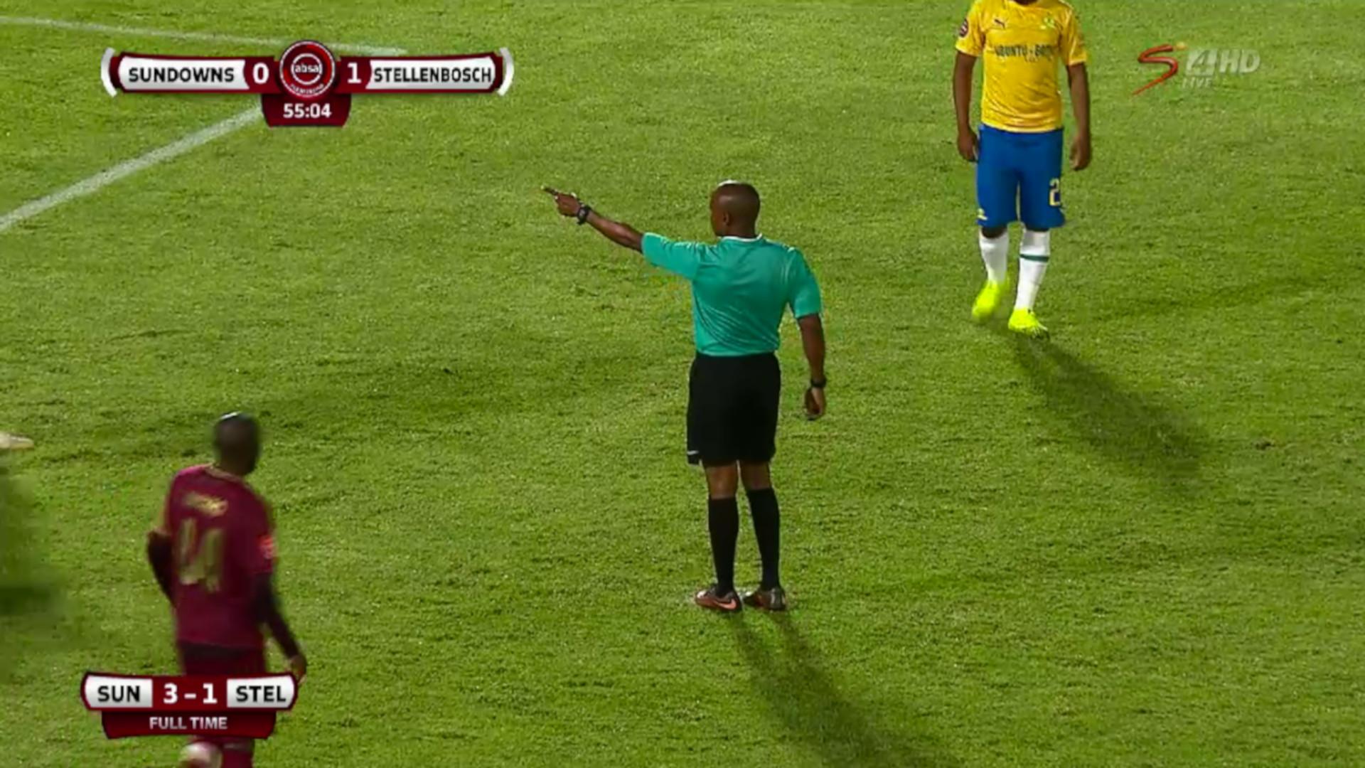 Absa Premiership | Mamelodi Sundowns v Stellenbosch FC | Controversial penalty