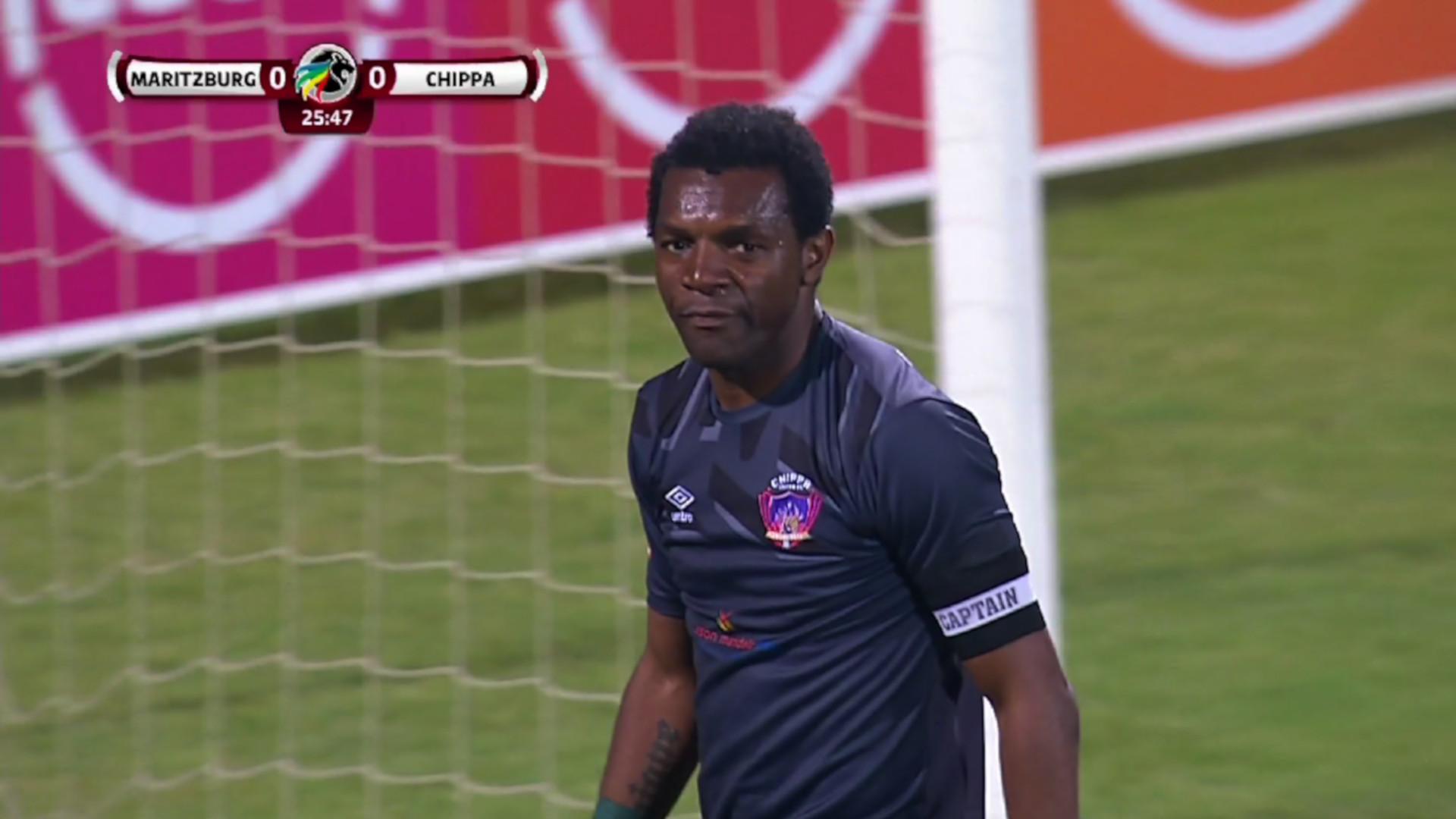 Absa Premiership | Maritzburg United v Chippa United | Patrick Tignyemb saves