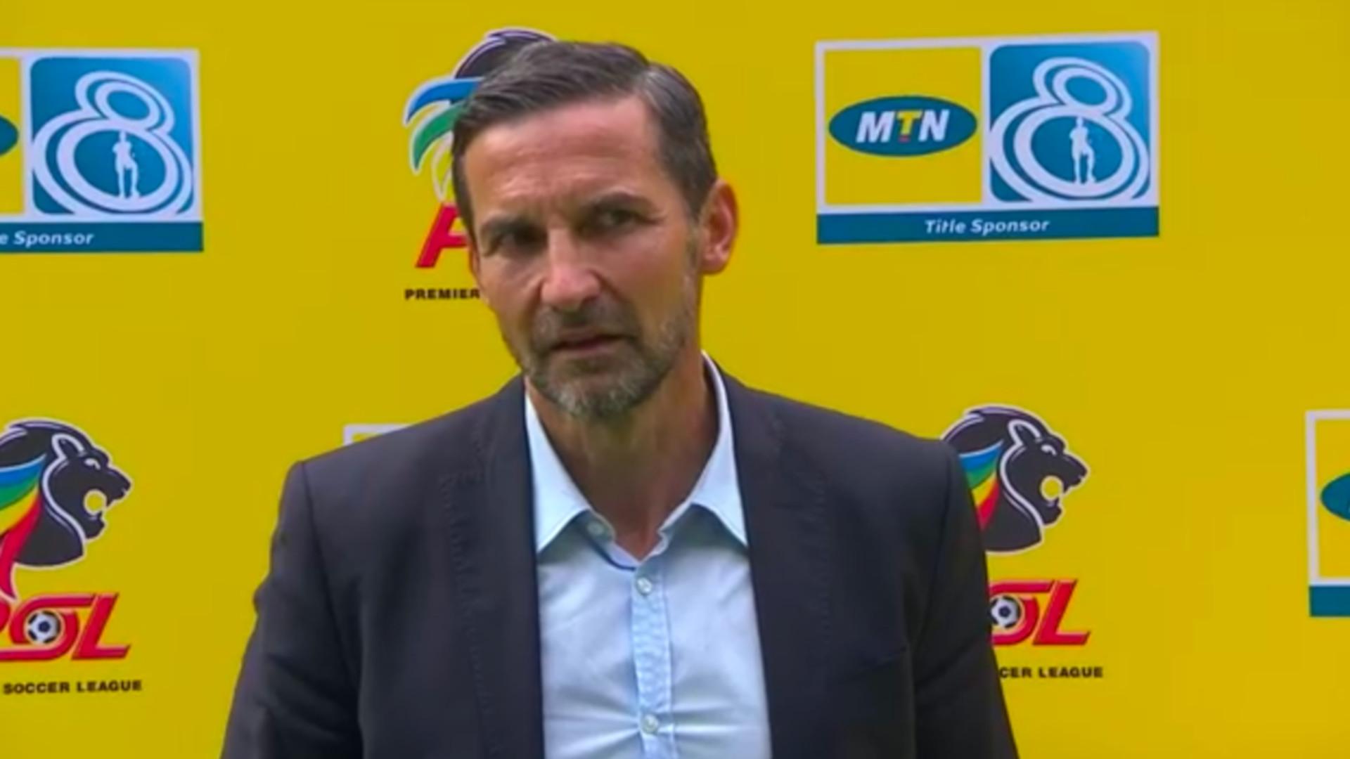 MTN8 | SF | 1st Leg | Orlando Pirates v Kaizer Chiefs | Post-match interview with Josef Zinnbauer