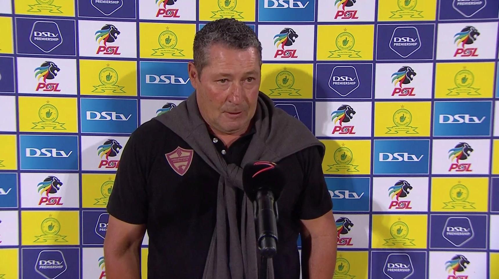 DStv Premiership | Mamelodi Sundowns v Stellenbosch FC  | Interview with Steve Barker