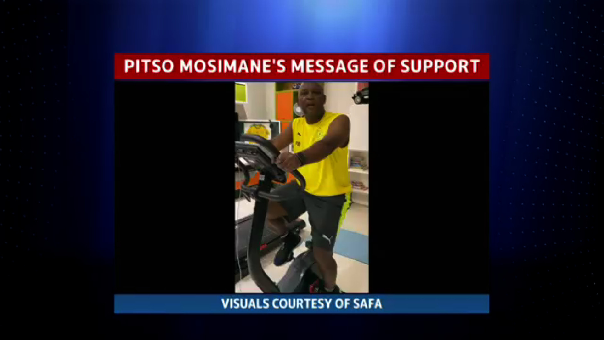 Pitso Mosimane's message of support