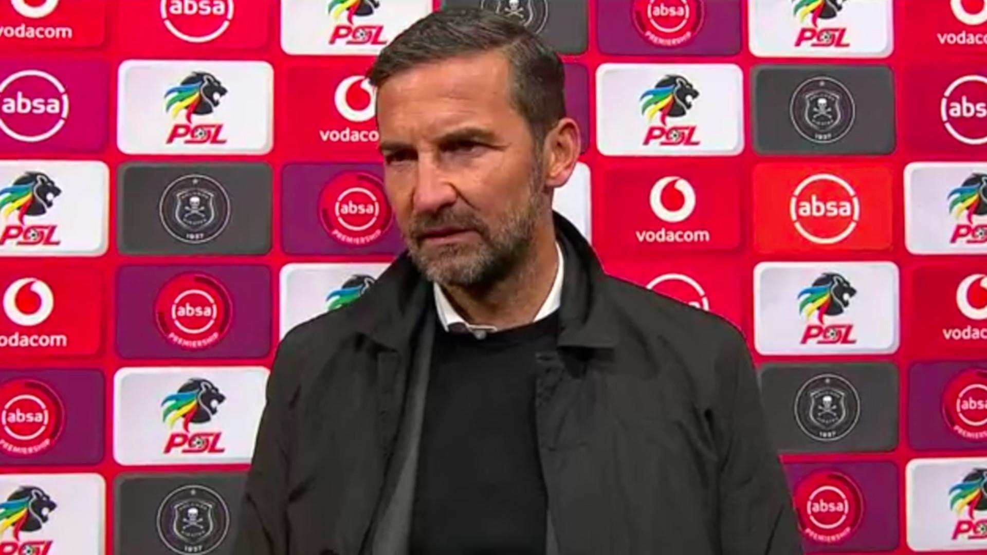 Absa Premiership | Orlando Pirates v Baroka FC | Post-match interview with Josef Zinnbauer