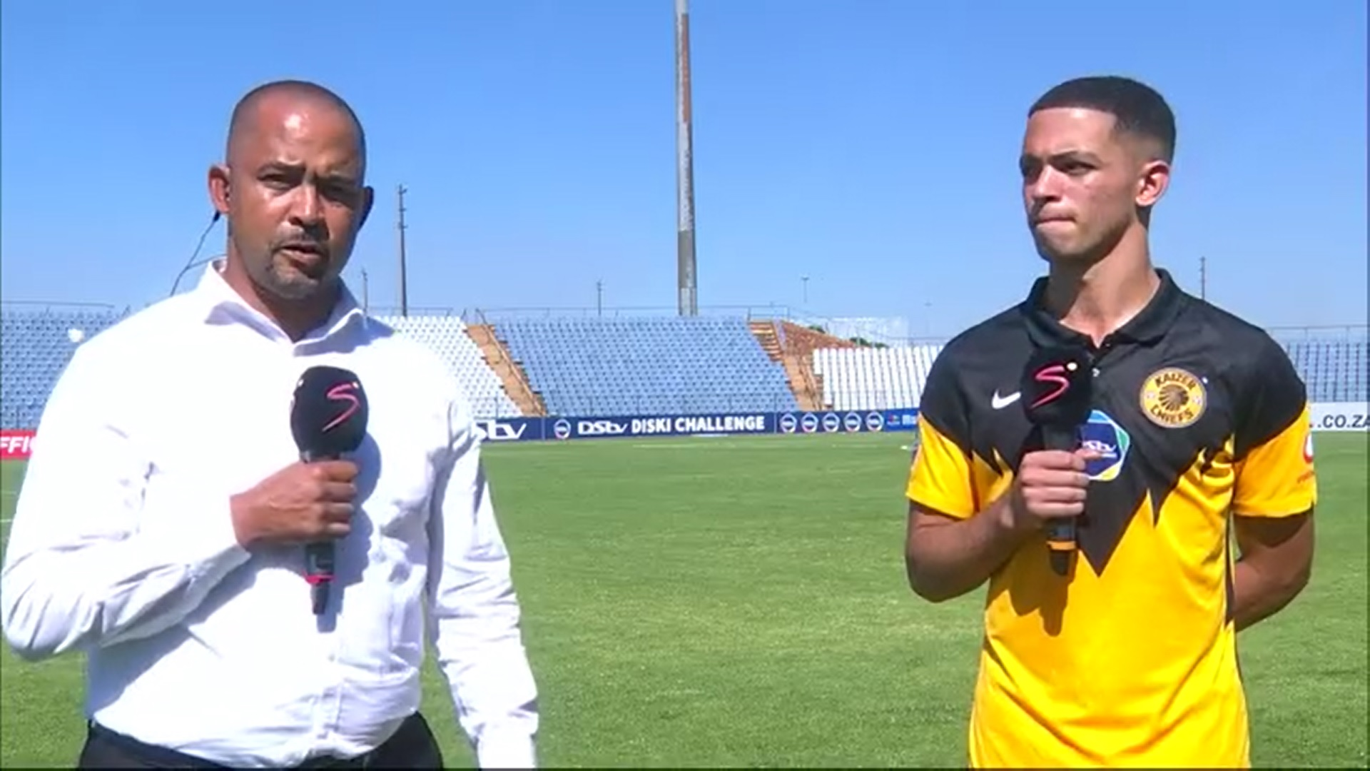 DStv Diski Challenge | Chiefs Reserves v Pirates Reserves | Post-match interview with Fabian McCarthy and son Aden
