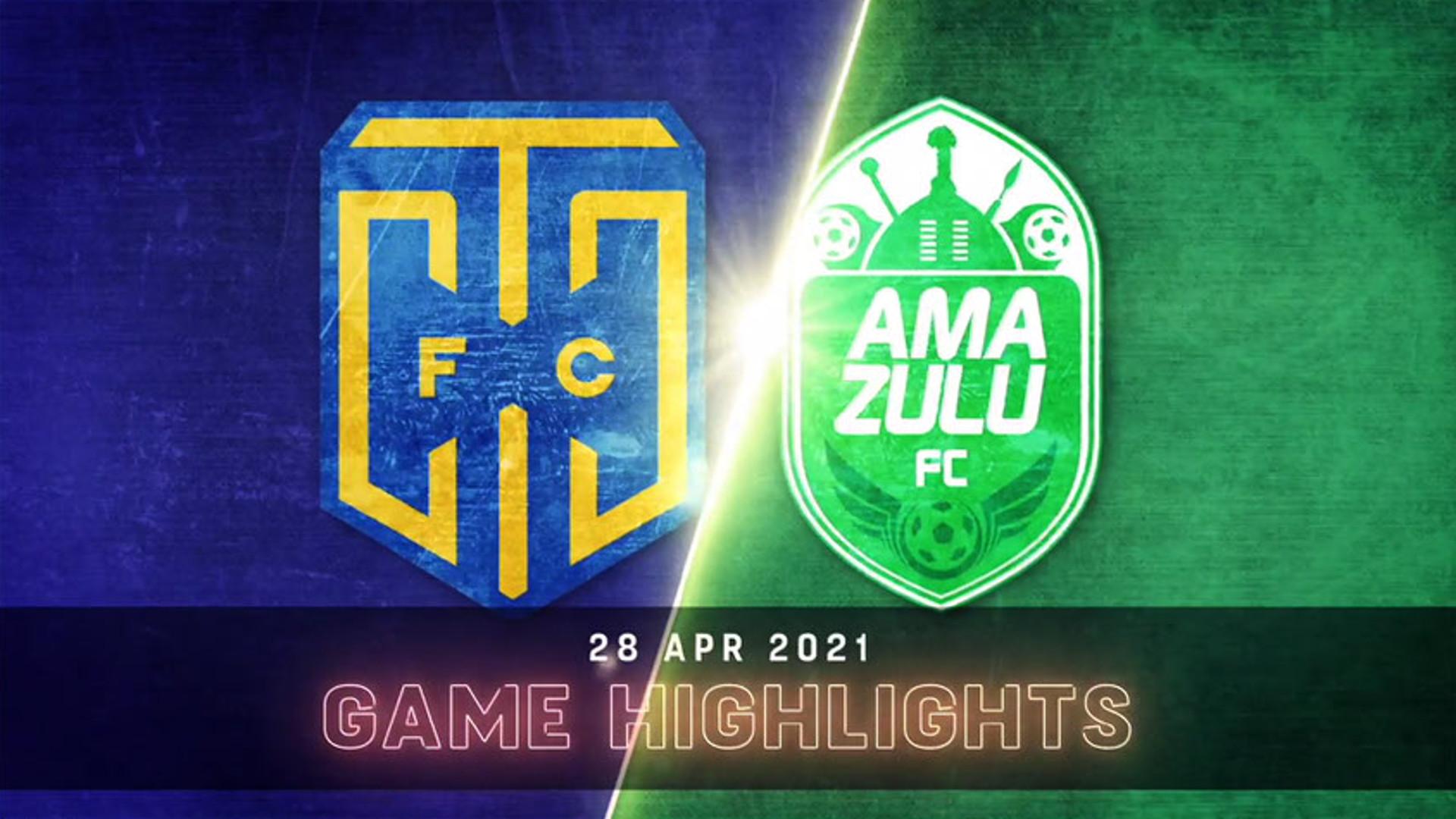 DStv Premiership l Cape Town City v AmaZulu l Highlights