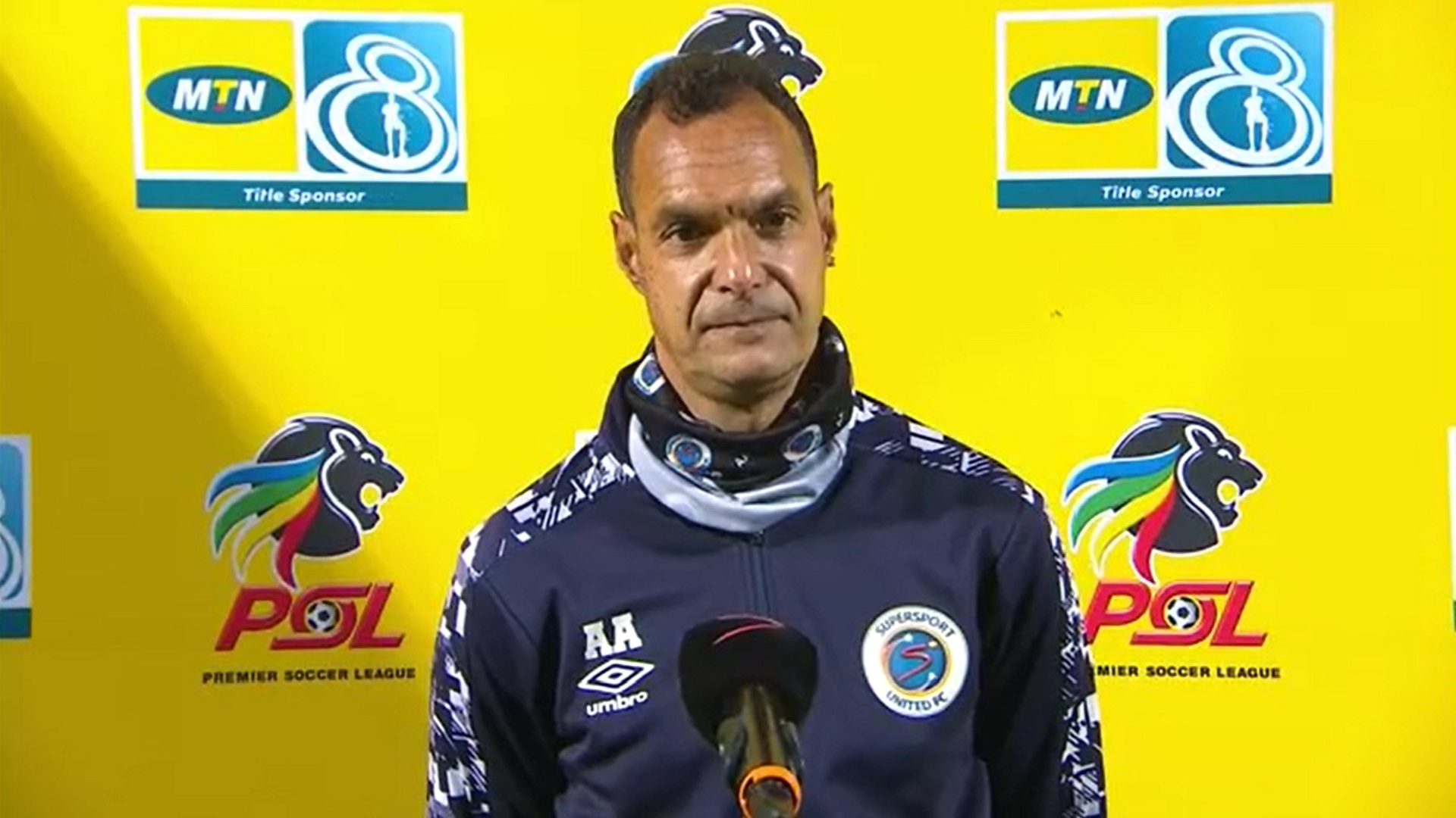 MTN8 | QF1 | Golden Arrows v SuperSport United | Post-match interview with Andre Arendse