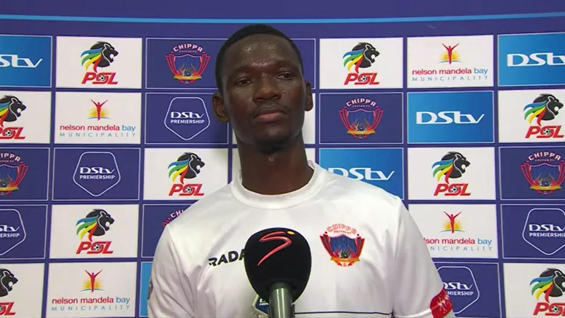 DStv Premiership | Chippa United v Mamelodi Sundowns | Post-match interview with Veluyeke Zulu