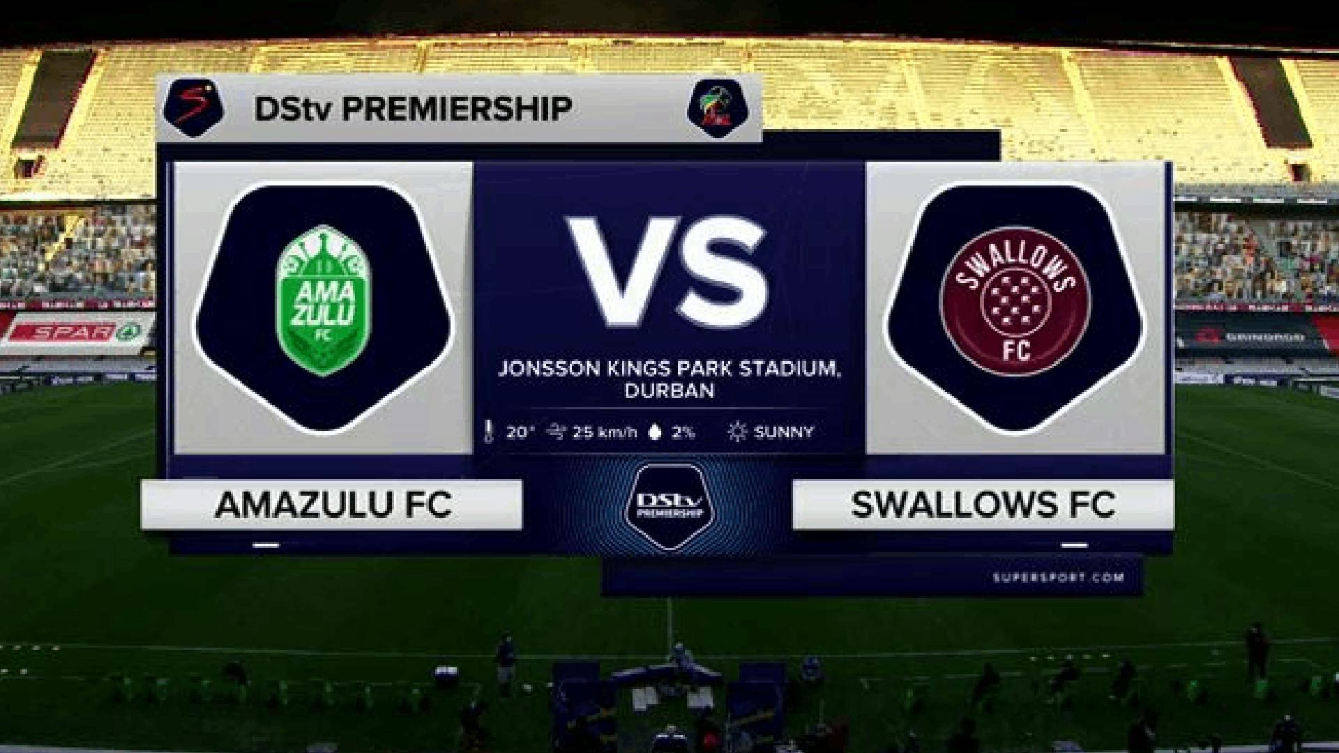 DStv Premiership   AmaZulu v Swallows FC   Highlights