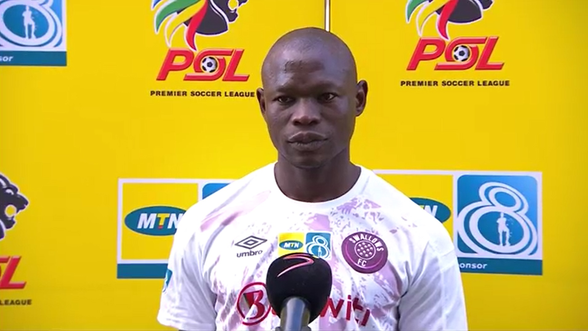 MTN8 | SF2 | 1st Leg |  Cape Town City v Swallows FC | Post-match interview with Sipho Sibiya