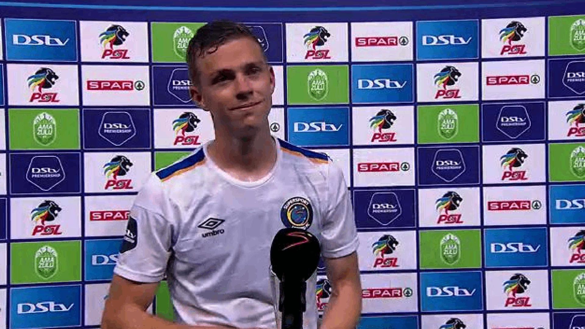 DStv Premiership | AmaZulu v SuperSport United | Post-match interview with Jesse Donn