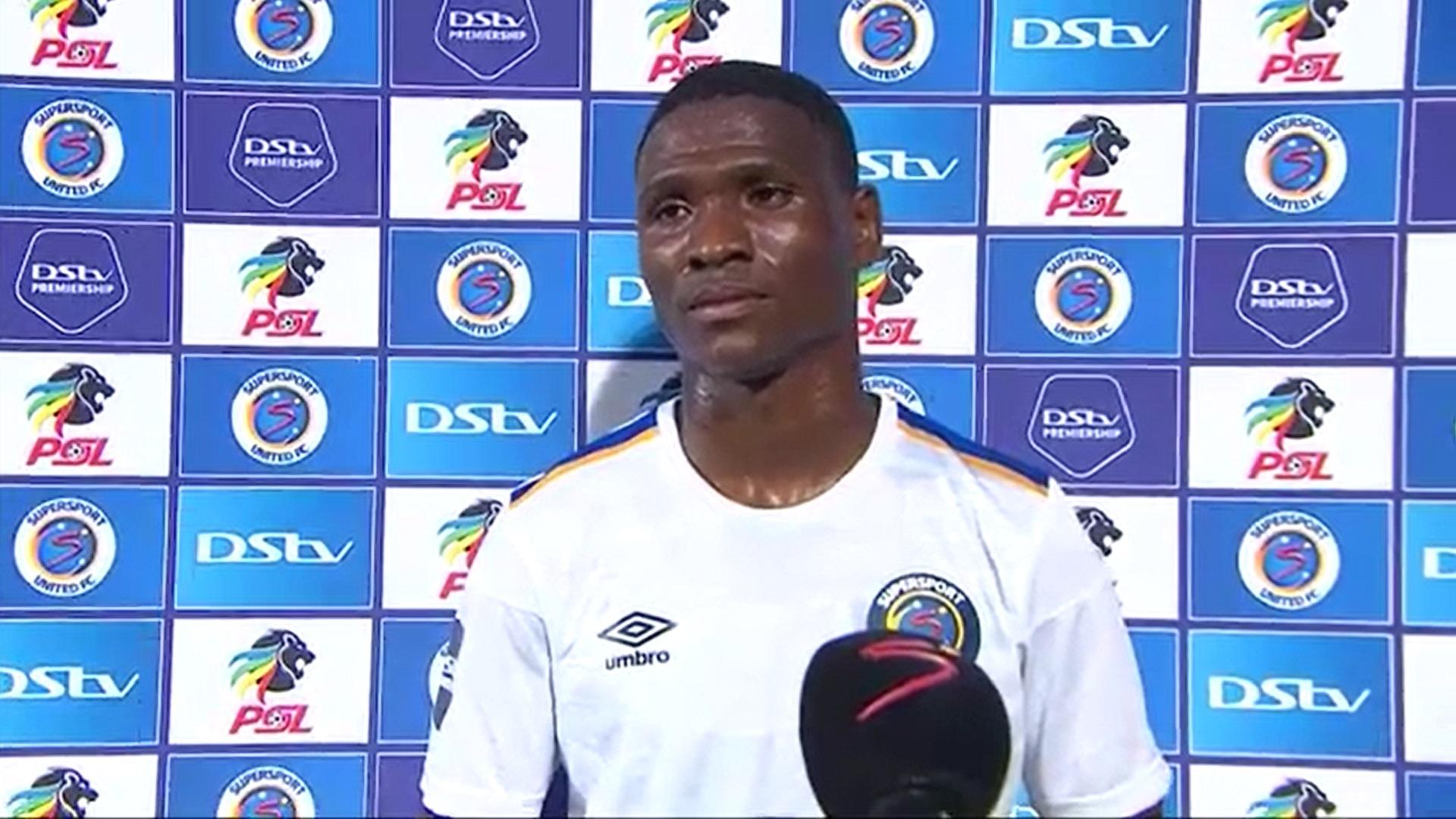 DStv Premiership | SuperSport United v Maritzburg United | Post-match interview with Thatayaone Ditlhokwe