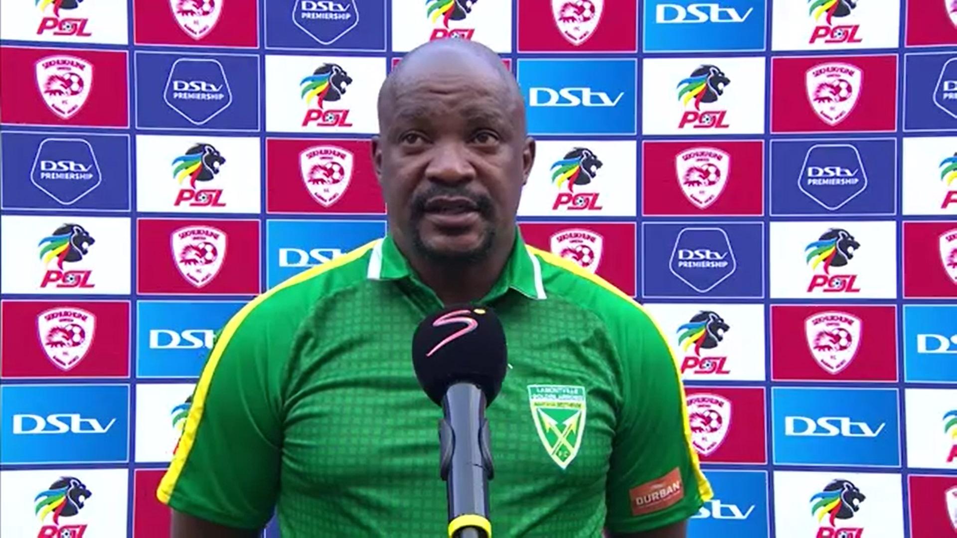 DStv Premiership | Sekhukhune United v Golden Arrows | Post-match interview with Lehlohonolo Seema