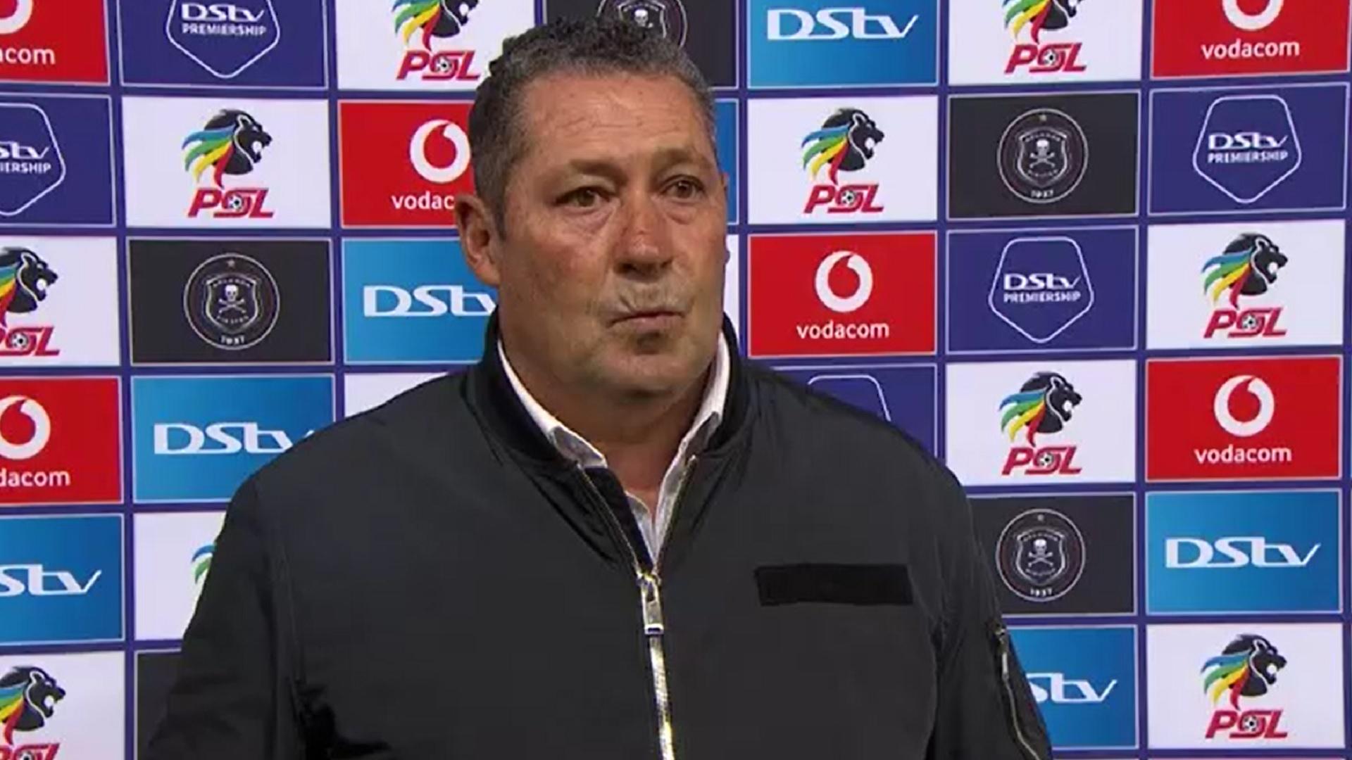 DStv Premiership   Orlando Pirates v Stellenbosch FC   Post-match interview with Steve Barker