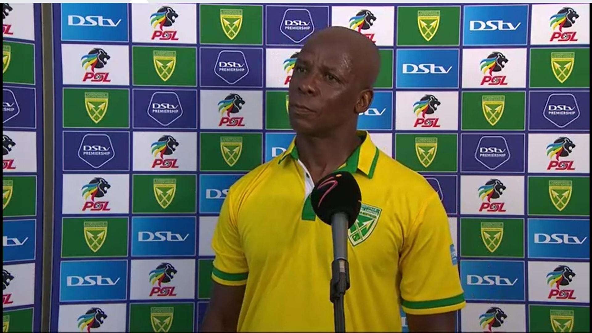 DStv Premiership   Golden Arrows v Kaizer Chiefs   Post-match interview with Mandla Ncikazi