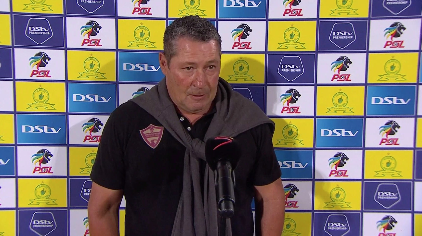 DStv Premiership | Mamelodi Sundowns v Stellenbosch FC  | Interview with Steve Barker