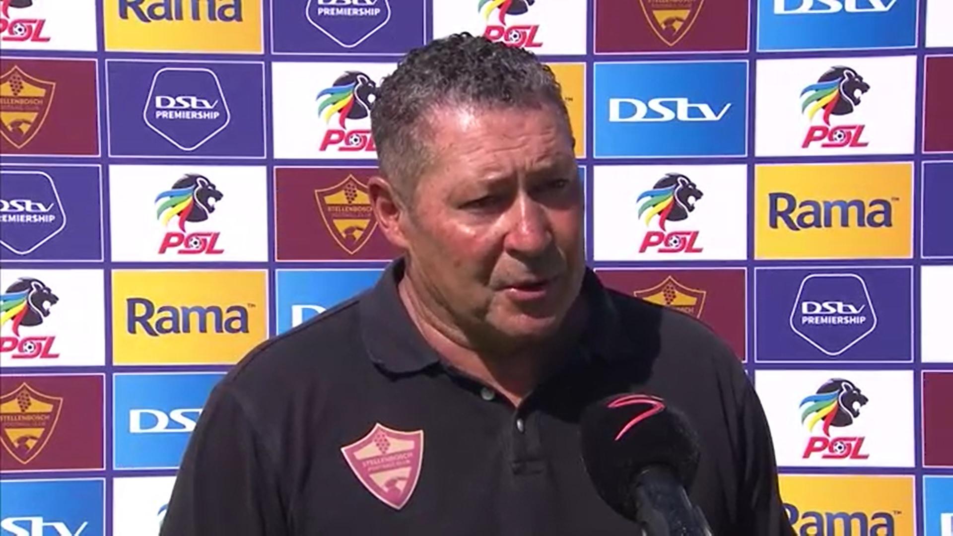 DStv Premiership | Stellenbosch FC v Mamelodi Sundowns | Post-match interview with Steve Barker