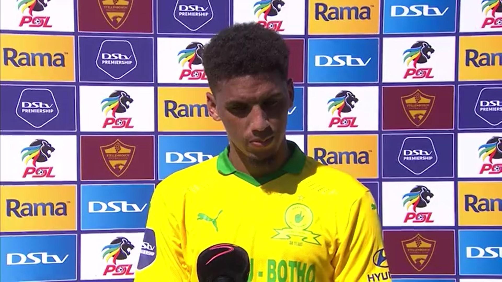 DStv Premiership | Stellenbosch FC v Mamelodi Sundowns | Post-match interview with Rushine De Reuck