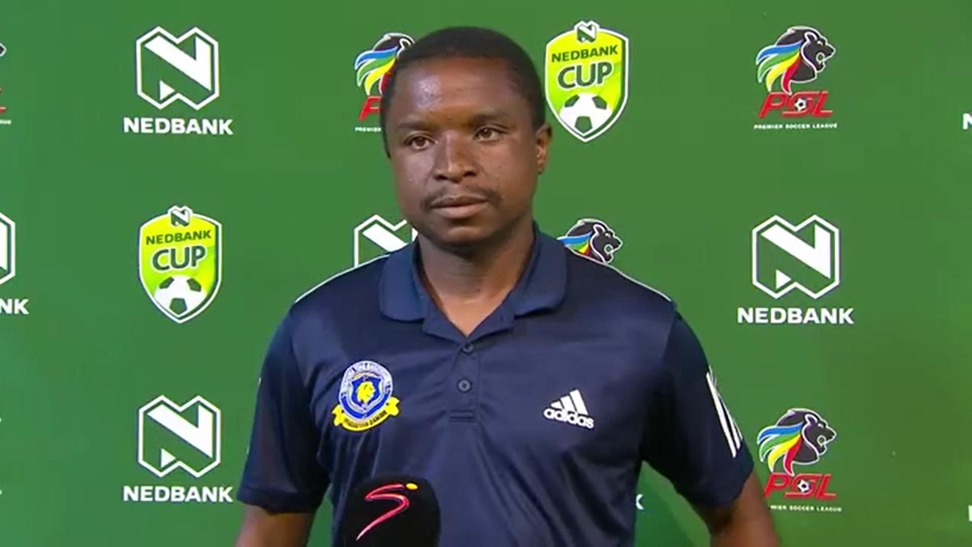 Nedbank Cup | QF | Black Leopards v Tshakhuma Tsha Madzivhandila | Post-match interview with David Mathebula
