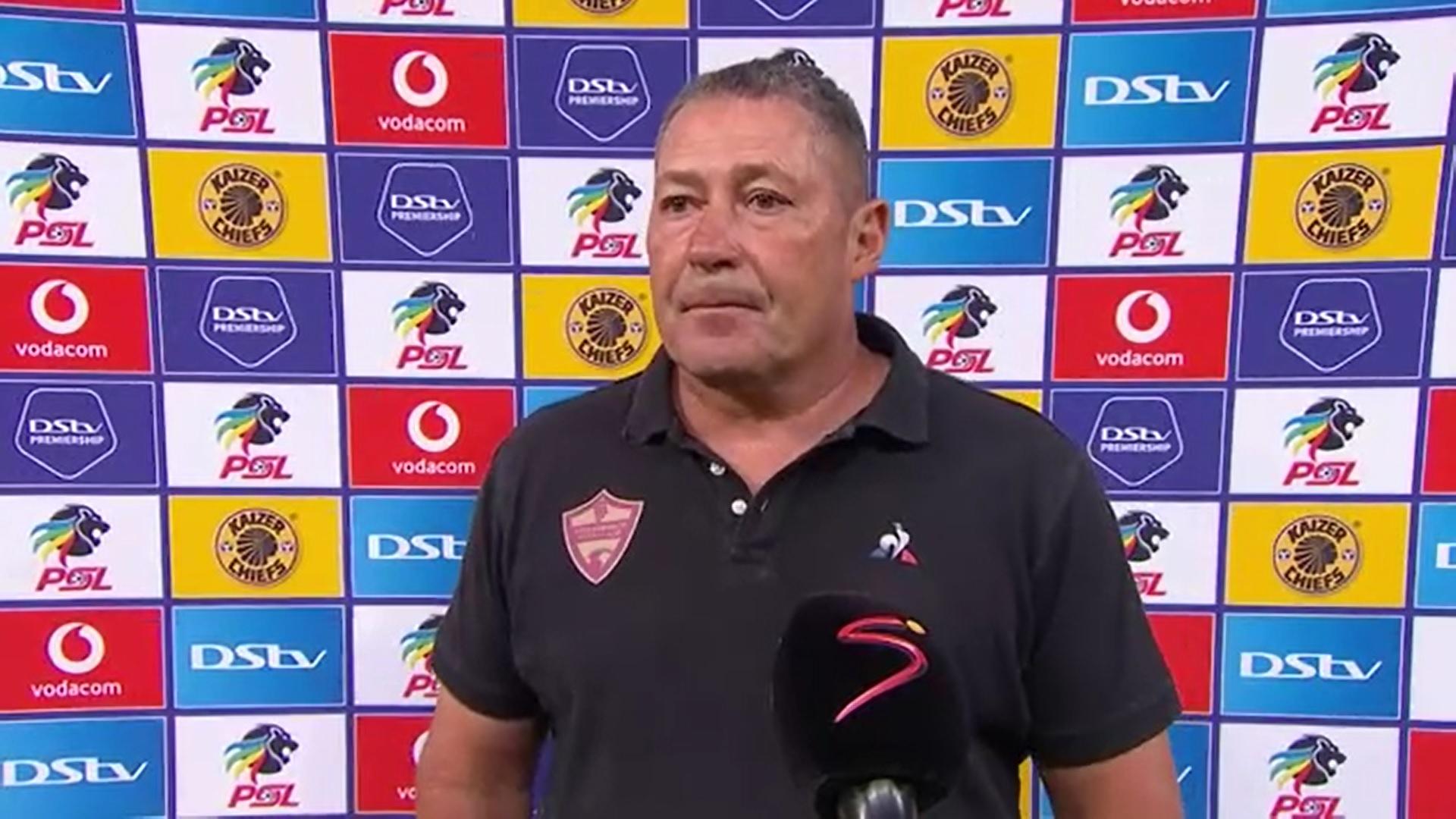 DStv Premiership I Kaizer Chiefs v Stellenbosch FC l Post-match interview with Steve Barker